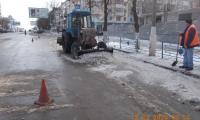 Чистка, погрузка и вывоз снега и льда по улице Коцюбинского, 18 февраля 2020г.