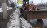 Чистка, погрузка и вывоз снега, льда по улице Оборонная, 21 февраля 2020г.